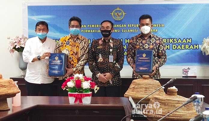 Bupati Konkep, Ir H Amrullah MT didampingi wakilnya Andi Muh Lutfi dan Ketua DPRD Konkep, Ishak SE serta unsur organisasi pimpinan daerah (OPD)