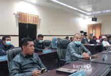 Suasana rapat paripurna pelaporan hasil reses masa sidang satu DPRD Konkep.