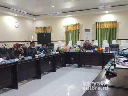 Suasana rapat dengar pendapat (RDP) dengan pihak PMD terkait pelaksanaan Pilkades serentak.